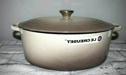 Le Creuset #31 Tan/Gray 6 3/4 Qt Oval French  Oven Enameled