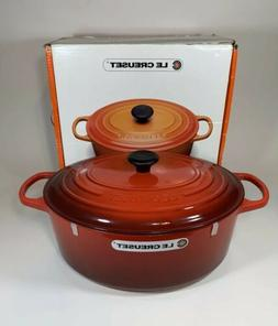 Le Creuset 9.5 Quart Cherry Red Oval Enamel Cast Iron French