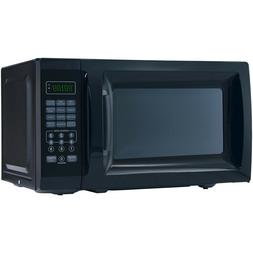 Black Microwave Oven 0.7 Cu. Ft. 700 Watts Home Kitchen Coun