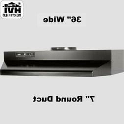 """BLACK OVER THE STOVE RANGE HOOD Ducted 36"""" Exhaust Fan Kitch"""