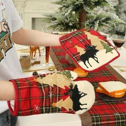 Christmas Baking Anti-Hot Gloves Pad Dining Microwave Oven I