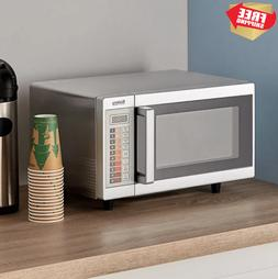 durable stainless steel commercial microwave oven push