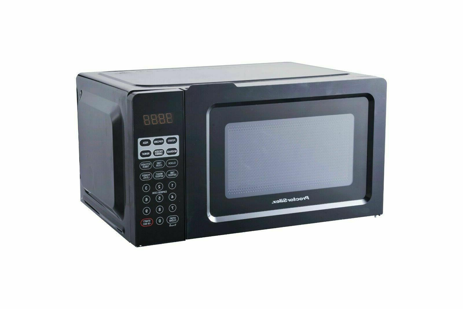 Small Table Top Digital Microwave Oven 0.7 Cu.ft Black Defro