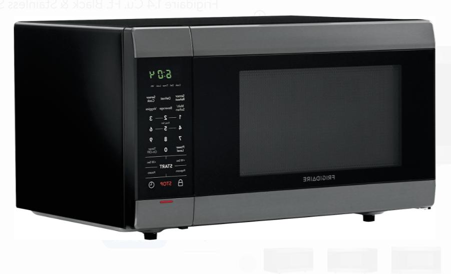 Frigidaire 1.4 Cu. Ft. Black & Stainless Microwave Oven Thaw New