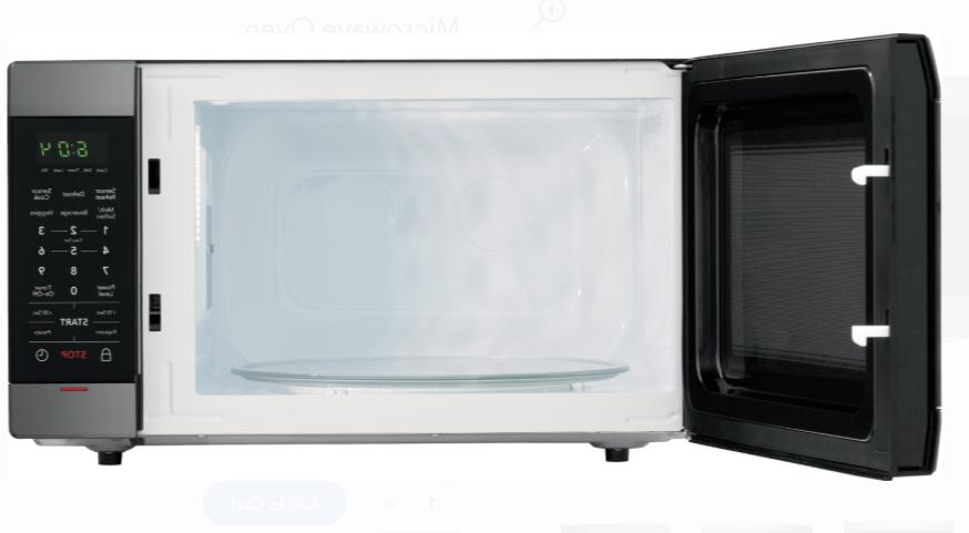 Frigidaire Black Stainless Microwave Thaw