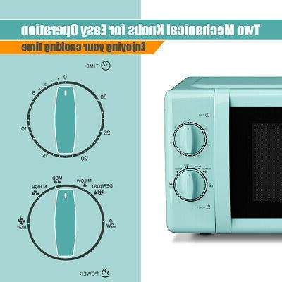 700W Oven w/Glass Turntable Cubic Feet Mint Green