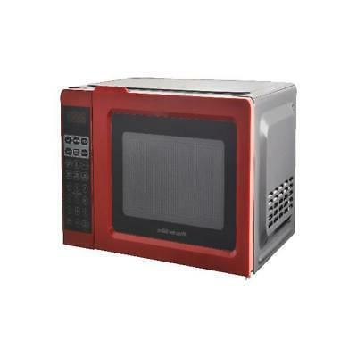 Digital Small Microwave Oven 700W Mini Red