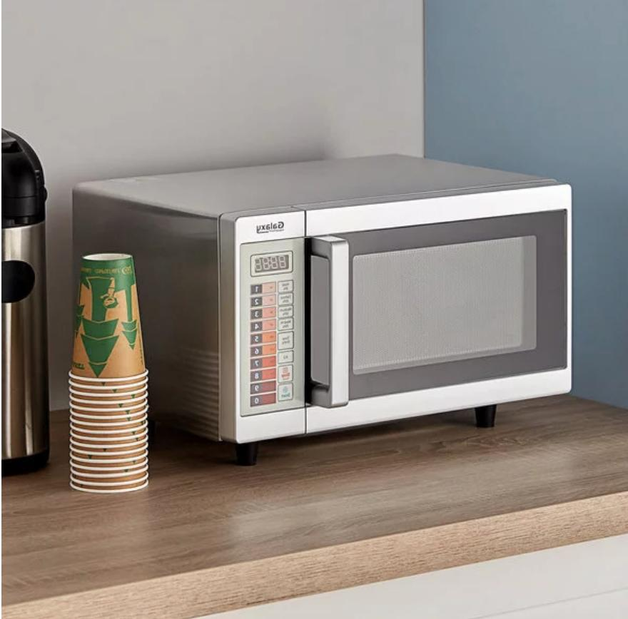 Durable Stainless Commercial Microwave Oven Push Controls