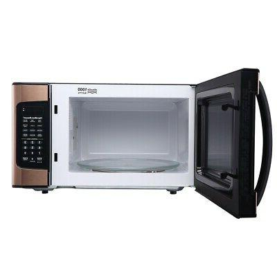 Microwave Oven Countertop 1.1 Cu LED Display Kitchen Cooking Copper