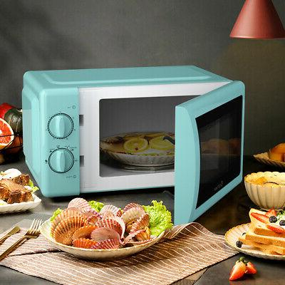 700W Retro Microwave Oven Cubic Mint Green