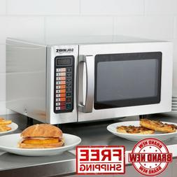 Light Duty Stainless Commercial Microwave Oven with Push But