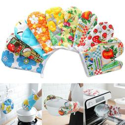 Microwave Oven Gloves Thick Soft Printed Pattern Fashion Cot