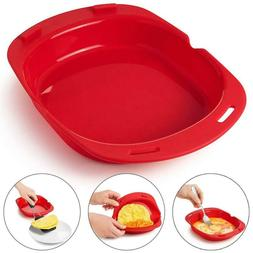 Microwave Oven Silicone Omelette Mold Egg Roll Frying Tray E