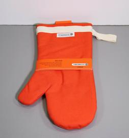"One Flame Volcanic Orange Oven Mitt 14"" NWT - Le Creuset"
