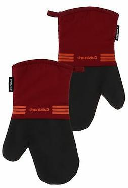 Cuisinart Oven Mitt w/Neoprene for Easy Gripping, Salsa Red