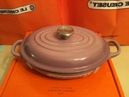 RARE Le Creuset Mauve Pink Oval Braiser ~ 1qt ~Brand New in