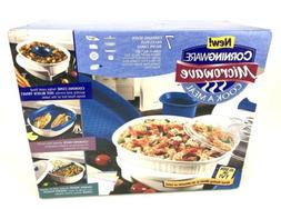 RARE New Old Stock Corningware Microwave Cook A Meal 7 Piece