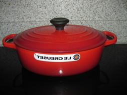 Le Creuset Red 3-1/2 Qt  Wide Oval  Dutch Oven--#27 NEW