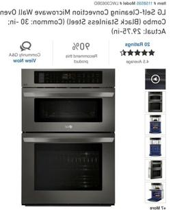 LG Self-Cleaning Convection Microwave Wall Oven Combo  30in
