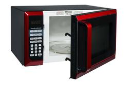 Stainless Steel 0.9 Cu. Ft. Red Microwave Oven, Touch pad co