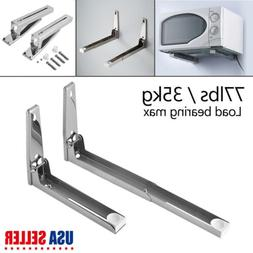 Stainless Steel Microwave Oven Wall Mount Bracket Foldable S